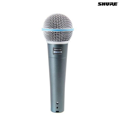 Microfone Dinâmico Supercardioide Beta 58A 027453 Shure