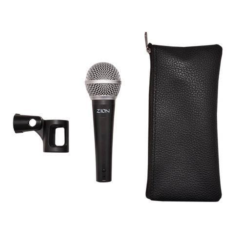 Microfone Dinâmico Zion By Plander Corpo de Metal com Cachi