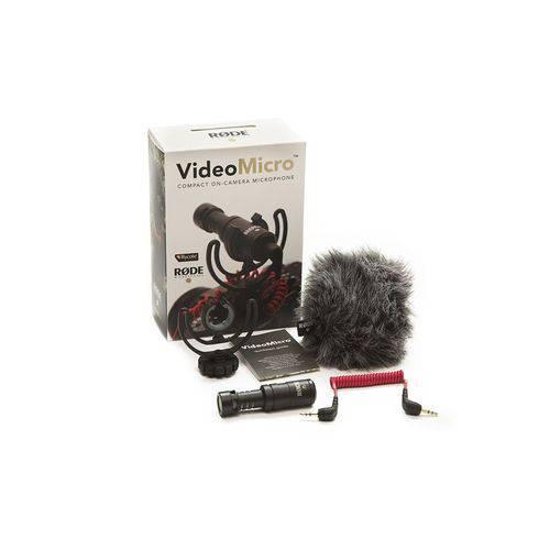 Microfone Direcional Compacto para Câmera de Conexão P2 Trs   Rode   Videomicro