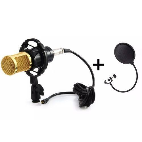 Microfone Estúdio Condesador Bm800 Profissional + Pop Filter