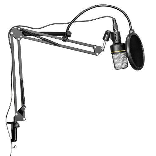 Microfone Estúdio Sf920 + Pop Filter + Pedestal