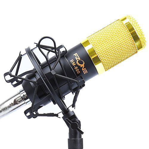 Microfone Fzone BM800 Condensador para Voz, ESTÚDIO, GRAVAÇ