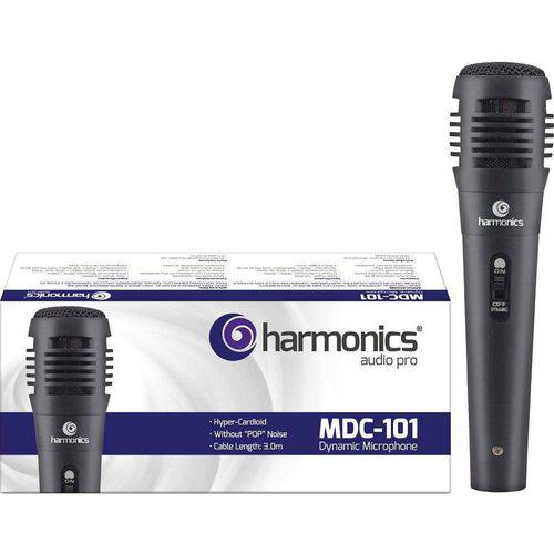 Microfone Harmonics com Fio Infantil P/ Karaoke de Excelente para Voz - com Fio