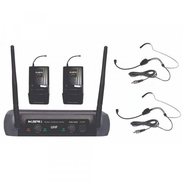 Microfone Headset Cabeça Sem Fio Ksr Pro 002-d Hd - Camera - Head + Head Cabeça