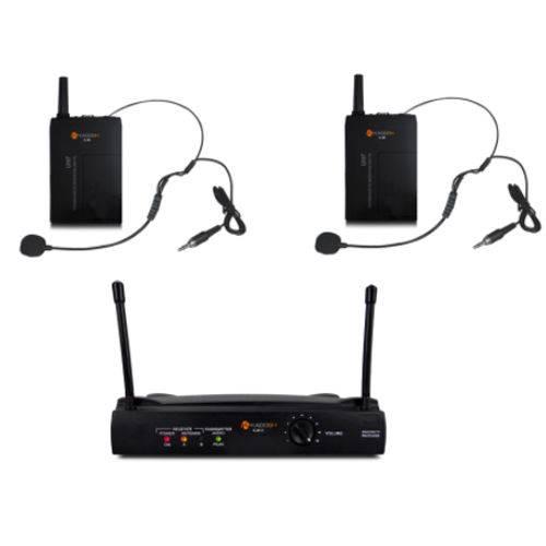 Microfone Headset + Headset Sem Fio Kdsw-402hh Uhf - Kadosh