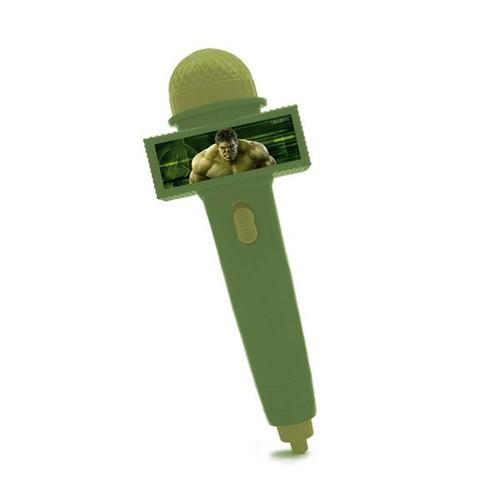 Microfone Hulk Verde Escuro com Luz Toyng
