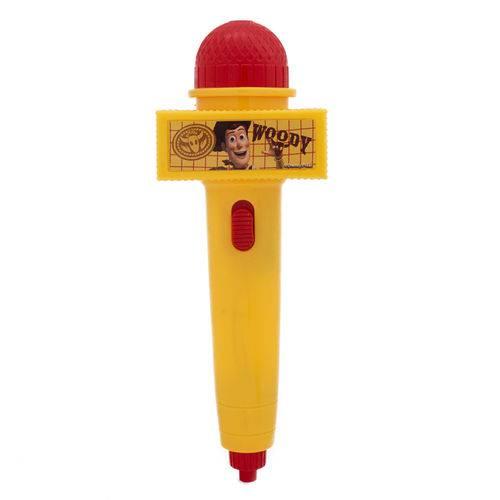 Microfone Infantil com Eco - Amarelo - Disney - Toy Story - Woody - Toyng