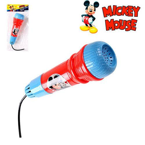 Microfone Infantil com Eco Divertido Mickey na Solapa