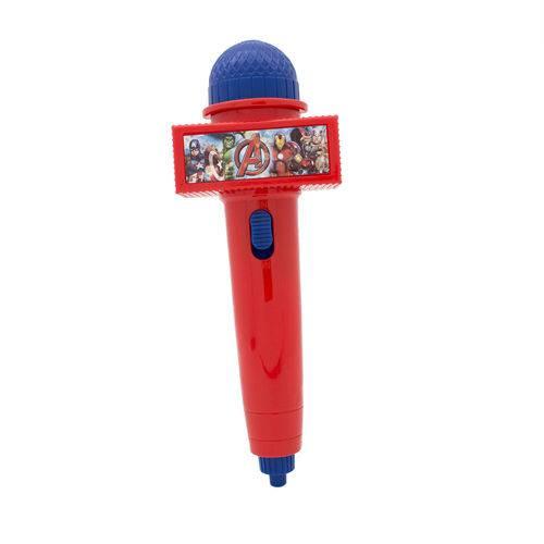 Microfone Infantil com Eco e Luz - Vermelho - Disney - Marvel - Avengers - Toyng