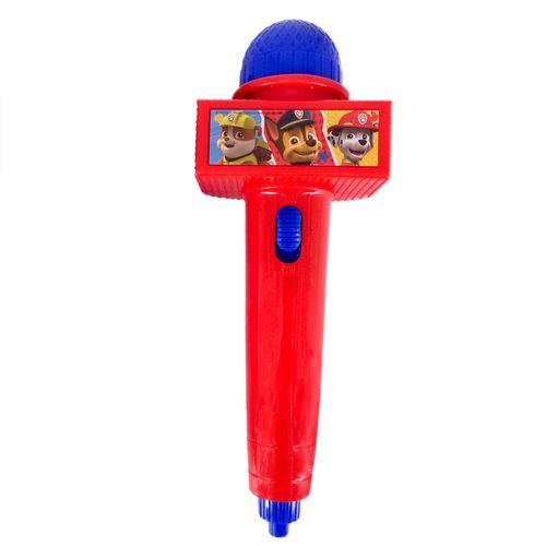 Microfone Infantil com Eco e Luz - Vermelho - Patrulha Canina - Toyng