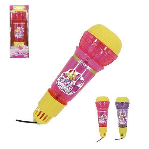 Microfone Infantil com Eco Glam Girls Colors Luz a Bateria na Caixa Wellkids