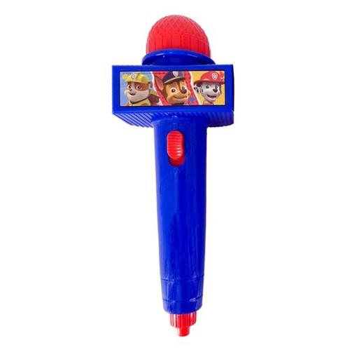 Microfone Infantil com Luz Patrulha Canina Azul Toyng