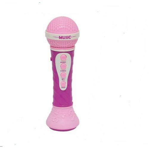 Microfone Infantil Musical Rosa Aprendendo a Cantar