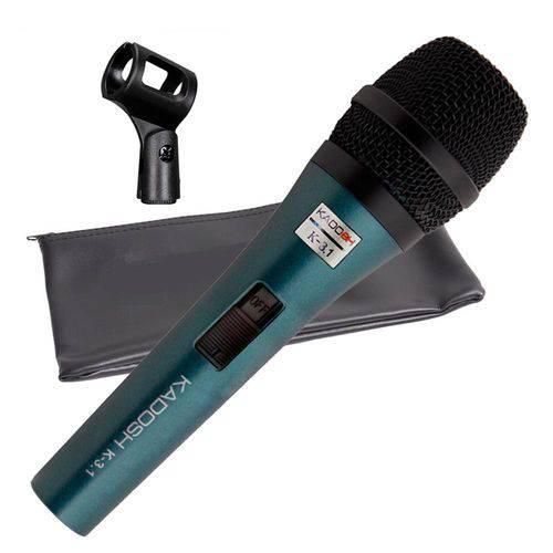 Microfone Kadosh K3.1 Dinâmico Baixa Impedância