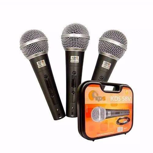Microfone Kadosh Kit C/3 Kds58v + Cabo + Maleta