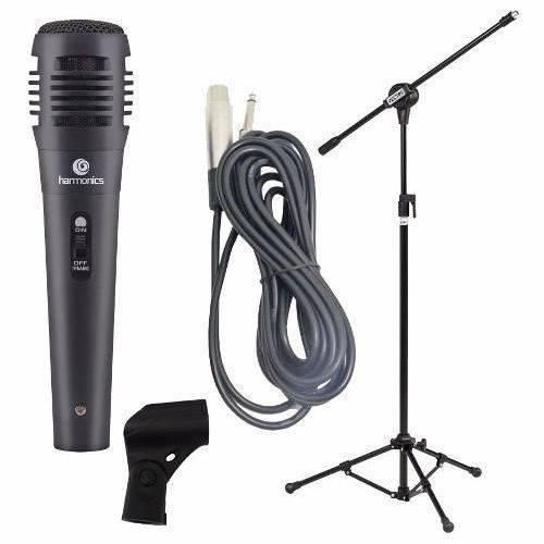Microfone Karaoke Harmonics MDC101+ Pedestal com Cachimbo + Cabo
