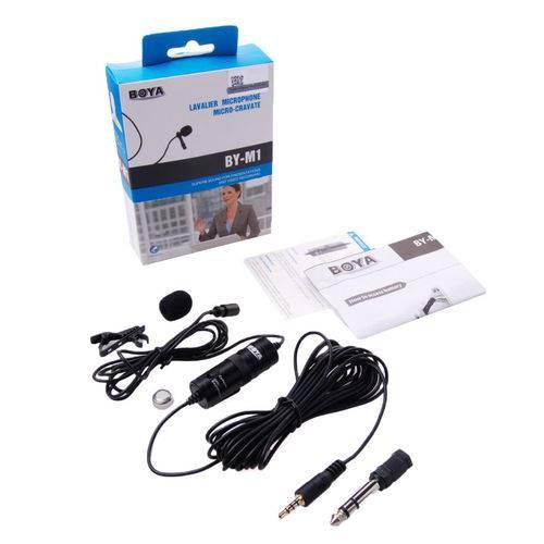 Microfone Lapela Boya BY-M1 para Smartphones e Cameras