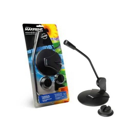 Microfone Mesa Preto 602568 Maxprint