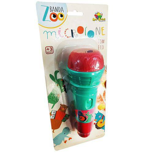 Microfone Musical Infantil Banda Zoo