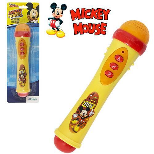 Microfone Musical Infantil Mickey a Pilha na Cartela