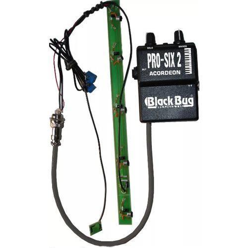 Microfone para Acordeon Black Bug Pro Six 2 Solo/baixo Cont. Externo