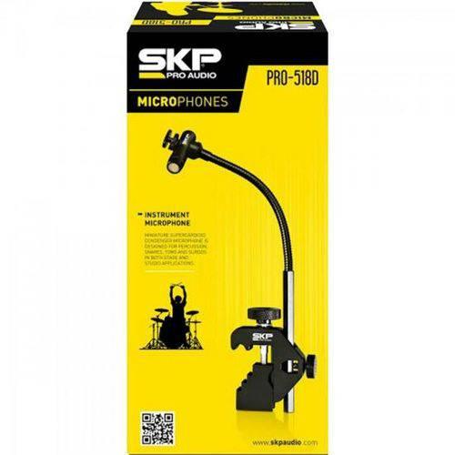 Microfone para Bateria e Percussões Pro-518d Preto Skp