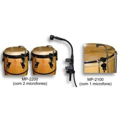 Microfone para Percussão Black Bug MP 2200 com 2 Microfones
