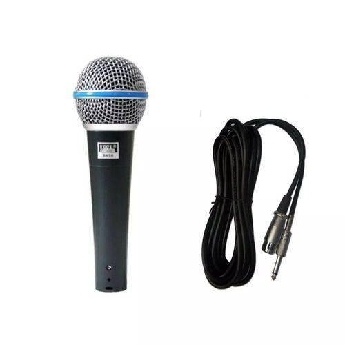 Microfone Profissional com Fio Jwl Ba58 Dinamico