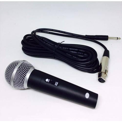 Microfone Profissional com Fio 3m High Sm-58