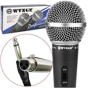 Microfone Profissional Dinamico com Cabo WVNGR M-58 M-58