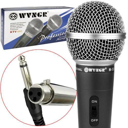 Microfone Profissional Dinâmico com Cabo Wvngr M-58