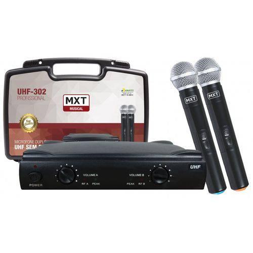 Microfone Profissional Duplo com Case Personalizado