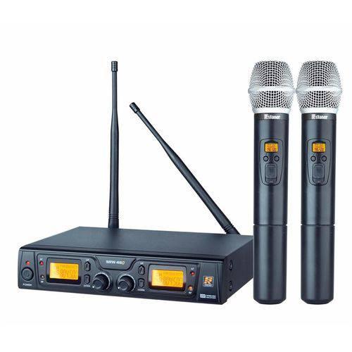 Microfone S/ Fio Duplo de Mão UHF Staner SRW 48D
