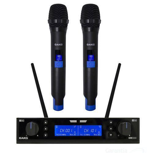 Microfone Sem Fio Akg Km200 Mão Duplo