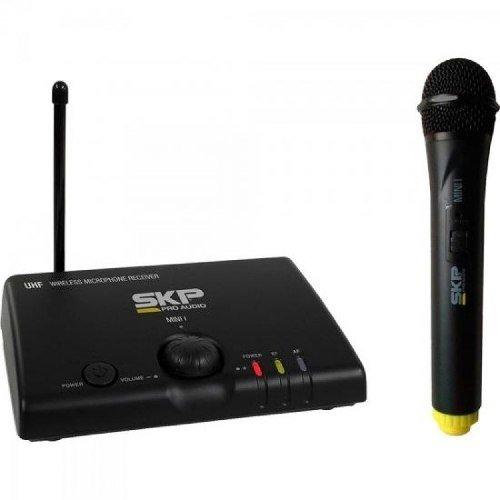 Microfone Sem Fio de Mão Bivolt Mini I Preto Skp