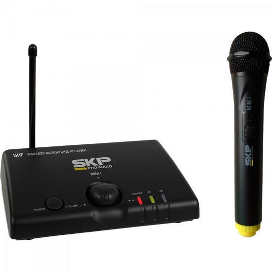 Microfone Sem Fio de Mão Bivolt MINI-I Preto SKP