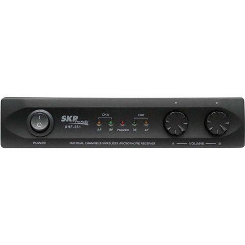 Microfone Sem Fio de Mão Duplo UHF261 SKP.