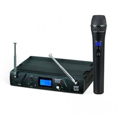 Microfone Sem Fio de Mão Karsect Kru 361 48 Canais