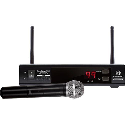 Microfone de Mão UC1100PL UHF Sem Fio Preto - Waldman