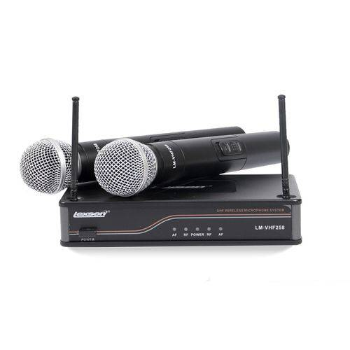 Microfone Sem Fio Duplo LM-VHF 258 Lexsen