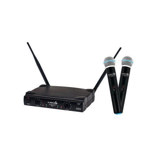 Microfone Sem Fio Duplo Lyco Uh-02MM