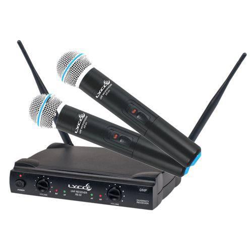 Microfone Sem Fio Duplo Lyco Uh02mm Mão