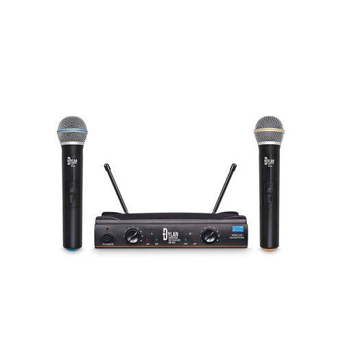 Microfone Sem Fio Duplo Mão/Mão Dylan DW-602