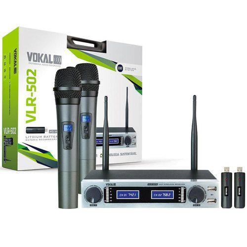 Microfone Sem Fio Duplo Vokal VLR502