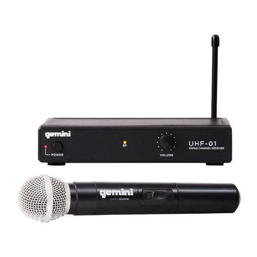 Microfone Sem Fio Gemini UHF01M