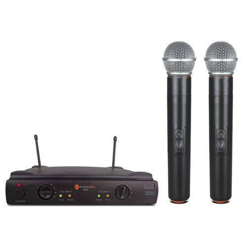 Microfone Sem Fio Kadosh Duplo Mao Kdsw402m