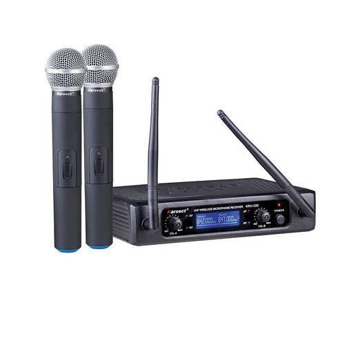 Microfone Sem Fio Karsect Kru 220 - Mão Duplo