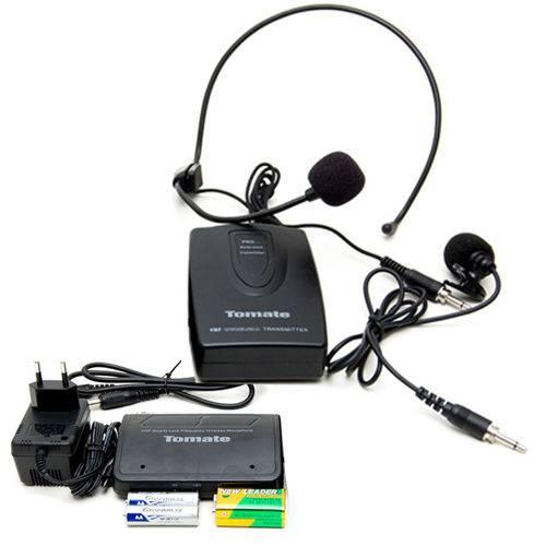 Microfone Sem Fio Lapela Weireless Profissional com Receptor