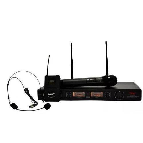 Microfone Sem Fio Leacs Ud 806 Mão Headset 200 Canais Profis
