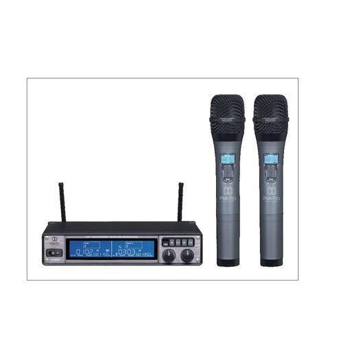 Microfone Sem Fio Makpro Uhf 265 Duplo